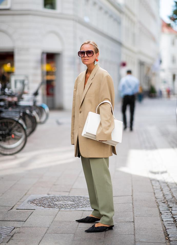 ***Oversized blazers***<br><br> When shopping for blazers for the season ahead, think of your grandfather. Go for an oversized cut, in brown check or grey tartan, and wear it over slouchy slacks, grazing maxi skirts or wide-leg trousers.