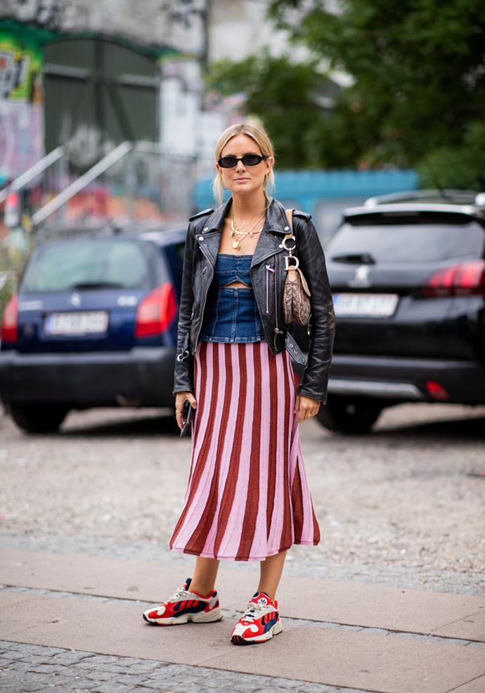 ***Stripes***<br><br> From wide and bold, to barely-there seersucker, striped pieces like dresses and blouses are seeing some action for spring. Lean into the maximalist persuasion and clash it with spots, florals or colour-blocking.