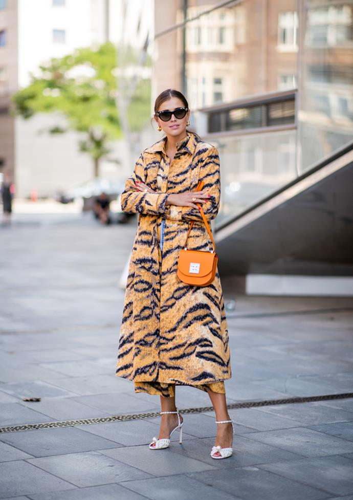 ***Tiger print***<br><br> Move over, leopard. Animal print will be your favourite neutral colour come spring, and the cream of the crop is tiger print. Bold, stripey, orange = heaven.
