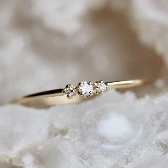 "**Cancer: Minimalist** <br><br> You're fashion is understated and elegant, Cancer. That's why you tend to steer away from OTT jewellery in favour of minimalist, quality pieces. The same can be said for your engagement ring. <br><br> Image: [Pinterest](https://www.pinterest.com.au/pin/348254983680197209/|target=""_blank""