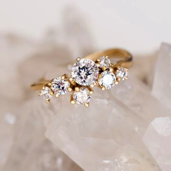 "**Leo: Cluster** <br><br> There's nothing wrong with enjoying being at the centre of attention, Leo. Which is why you need an engagement ring that's as vibrant as you, like a diamond cluster style. <br><br> Image: [Pinterest](https://www.pinterest.com.au/pin/239957486376663356|target=""_blank""