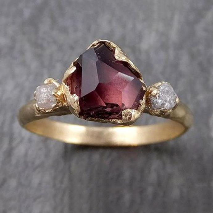 "**Libra: Coloured Stone** <br><br> You're a romantic at heart, Libra. And you enjoy walking to the beat of your own drum. That's exactly why a coloured stone, like a ruby or sapphire, work best with your rebellious spirit. <br><br> Image: [Pinterest](https://www.pinterest.com.au/pin/789044797190154430/|target=""_blank""