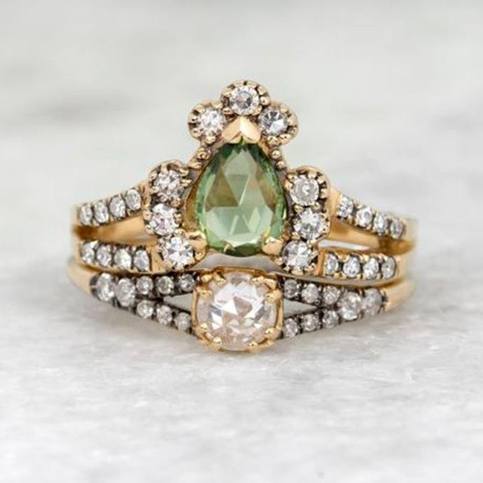 "**Pisces: Art Deco** <br><br> You style often looks like it's from another era, Pisces. You tend to steer away from the shiny and new trends in favour of opulent vintage styles that tell their own story, like a *Great Gatsby*-inspired Art Deco ring. <br><br> Image: [Pinterest](https://www.pinterest.com.au/pin/345229127675827163/|target=""_blank""
