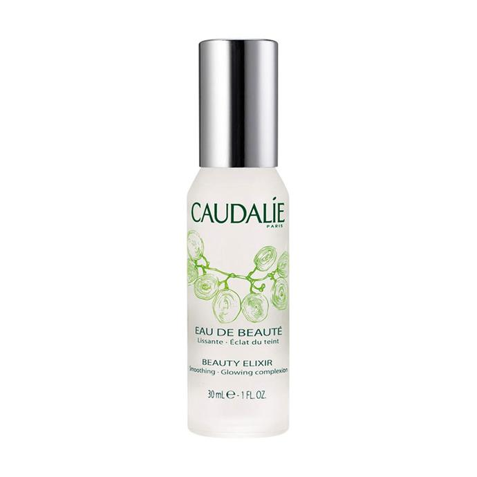 "**TONER:** <br><br> Caudalie Beauty Elixir, $24 at [Sephora](https://www.sephora.com.au/products/caudalie-beauty-elixir/v/30ml|target=""_blank""