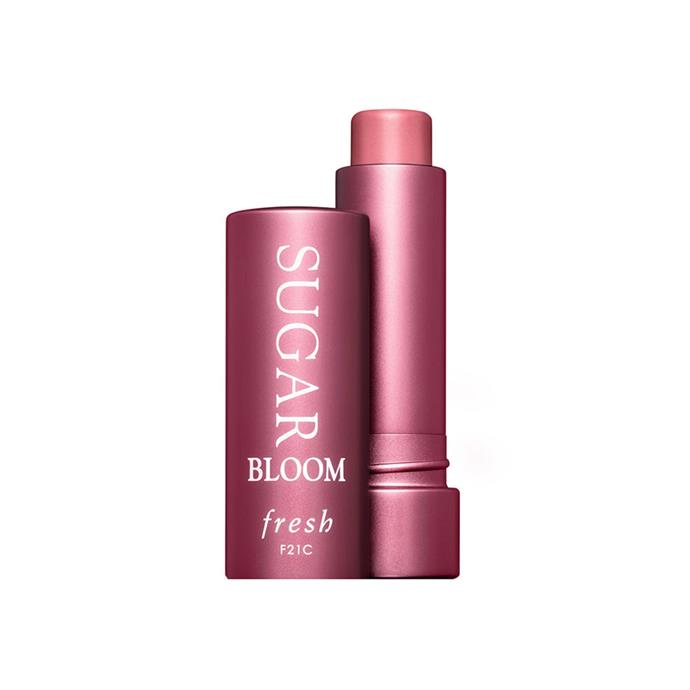 "**LIP BALM:** <br><br> Fresh Sugar Tinted Lip Treatment, $32 at [Sephora](https://www.sephora.com.au/products/fresh-sugar-lip-treatment-sunscreen-spf-15/v/bloom |target=""_blank""