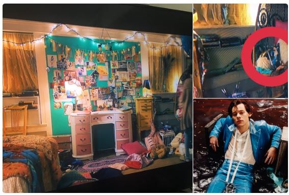 "**Lara Jean has Harry Styles fan merch in her room.** <br><br> One fan caught a sneaky screengrab of Harry Styles' debut album in Lara Jean's room, sitting on top of her chair. <br><br> Image: [Twitter](https://twitter.com/tomlinsmarvel/status/1030411506503045121|target=""_blank""