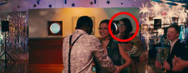 **The book's author, Jenny Han, makes a cameo.** <br><br> Jenny Ham appears in the background of the school dance scene between Lara Jean and Lucas James