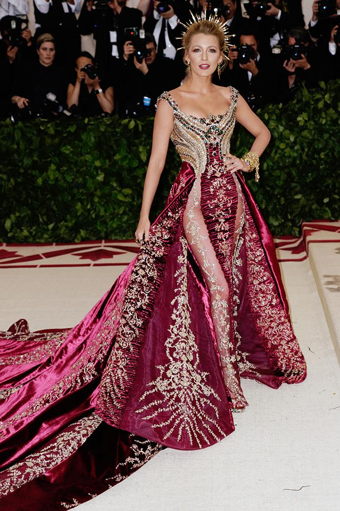 Blake's Versace gown at the 2018 Met Gala saw her looking like actual royalty, but then again, what's new.