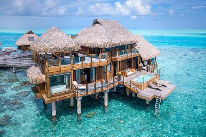 **Bora Bora: Conrad Bora Bora Nui Resort and Spa** <br><br> While filming season six of *KUWTK*, the family jetted off to Bora Bora to celebrate then-married Kris and Bruce Jenner's 20th wedding anniversary and vowel renewal.