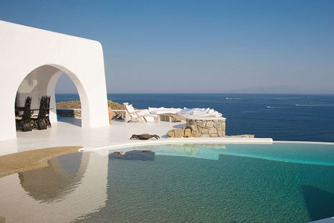 **Mykonos, Greece: My Mykonos Retreat** <br><br> In 2013, the Kardashian-Jenner clan took their yearly family holiday to Greece, half of which they spend in Mykonos in a luxury, ocean-front villa.