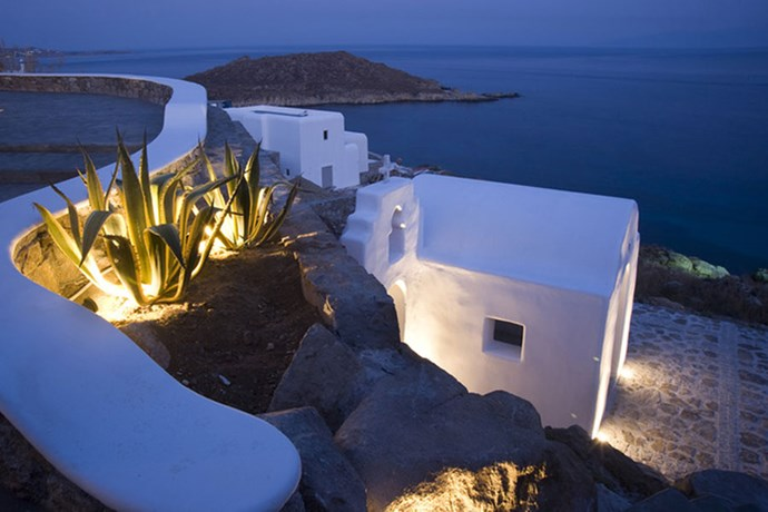 "**Mykonos, Greece: My Mykonos Retreat** <br><br> Costing upwards of $40,000 USD a week to rent out in the off-season, the family set up residence at [My Mykonos Retreat](http://www.mykonosretreat.com/|target=""_blank""