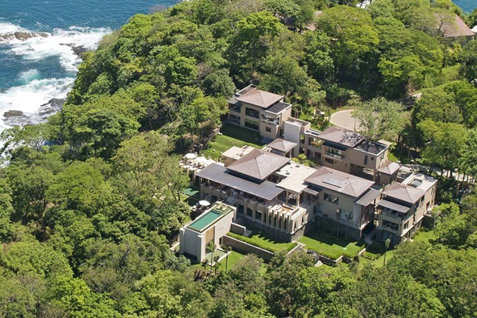 "**Costa Rica: Villa Manzu** <br><br> Located on the Peninsula Papagayo, [the property](https://www.forbes.com/sites/passport/2017/02/06/inside-kim-kardashians-costa-rica-hideaway-the-most-outrageous-underground-hotels-and-more/#5bb53bb37023|target=""_blank""