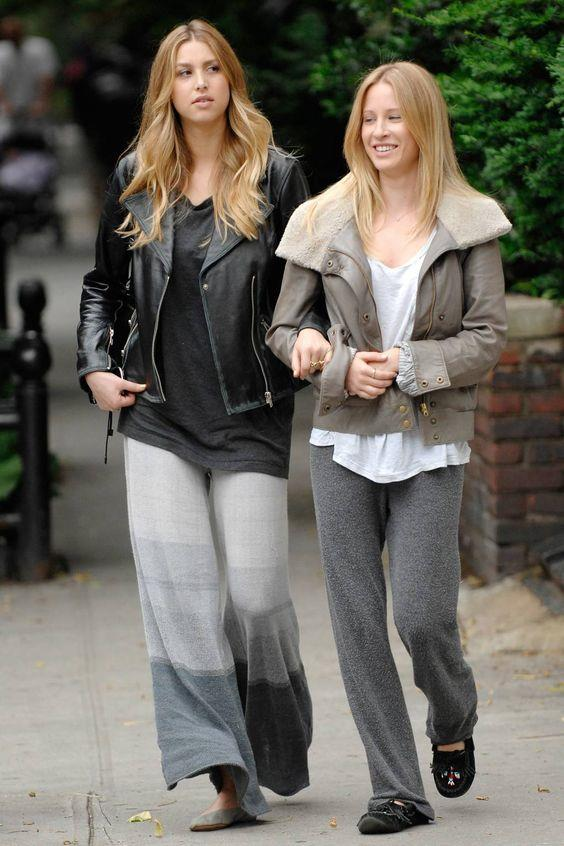 Whitney and her younger sister are honestly adorable together, even when their sweatpants aren't.