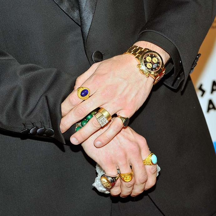Honourary mention for Spencer Pratt's vast, and forever iconic, crystal collection.
