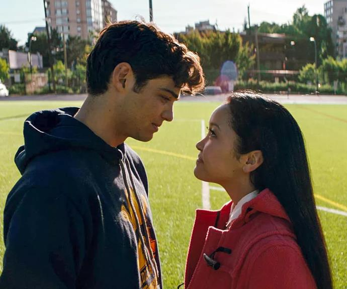 ***Peter and Lara Jean's first kiss***<br><br> The whole reason LJ is into Peter back in the day is because he was her first kiss, right? In the movie, they're seen sharing a peck at a party during a game of Spin the Bottle—which makes sense. It wasn't really a boy-likes-girl thing, it was just a game. <br><BR> But in the book, there was no bottle-spinning involved. Instead, Peter just lands one on her (at the end of a party, when they're waiting to get picked up) because he genuinely likes her. Makes a bit of a difference, no?