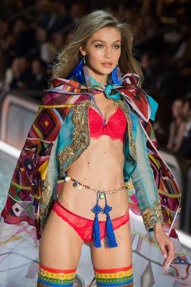 ***Gigi Hadid***<br><br> Although she didn't walk the 2017 show in Shanghai, we think it's likely that Gigi will reprise her wings for 2018 and join her sister on the runway.