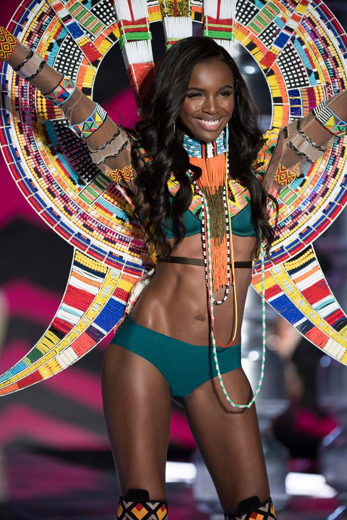 "***Leomie Anderson*** <br><br> 2018 will be Leomie's fourth year walking. She revealed the news on Instagram, writing, ""The face you make when you find out you've bagged @victoriassecret show for the fourth time in a row!"""