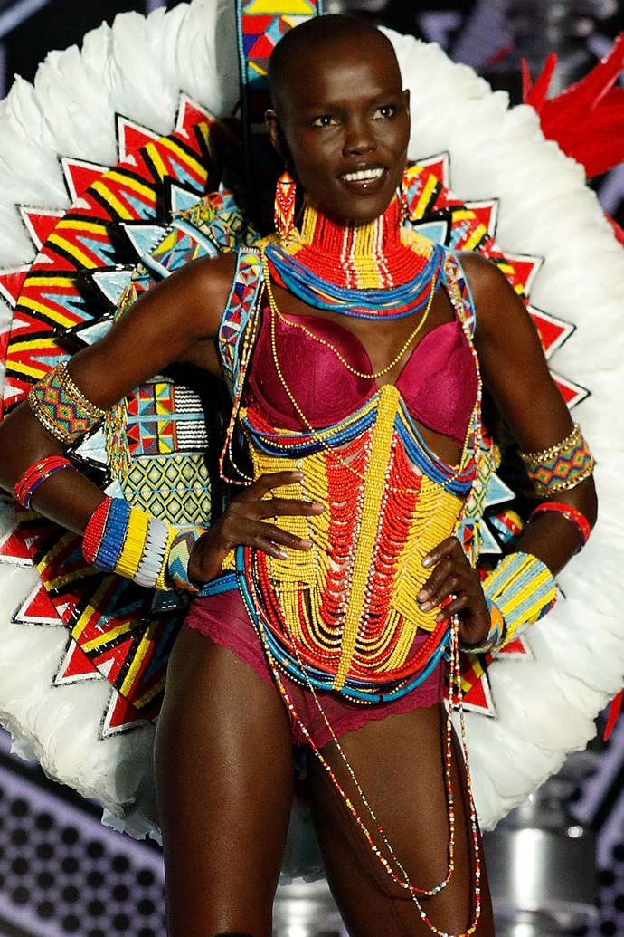 "***Grace Bol*** <br><Br> Grace took to Instagram to reveal her big news, writing, ""Happy to be back @victoriassecret."""