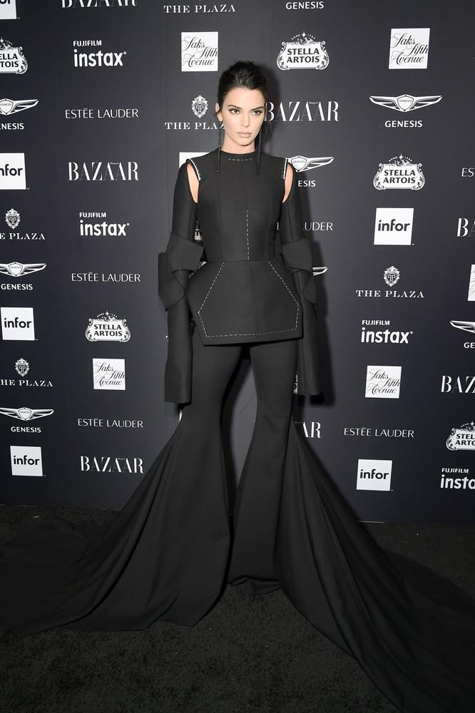 Kendall Jenner in Vera Wang, September 7th, 2018.
