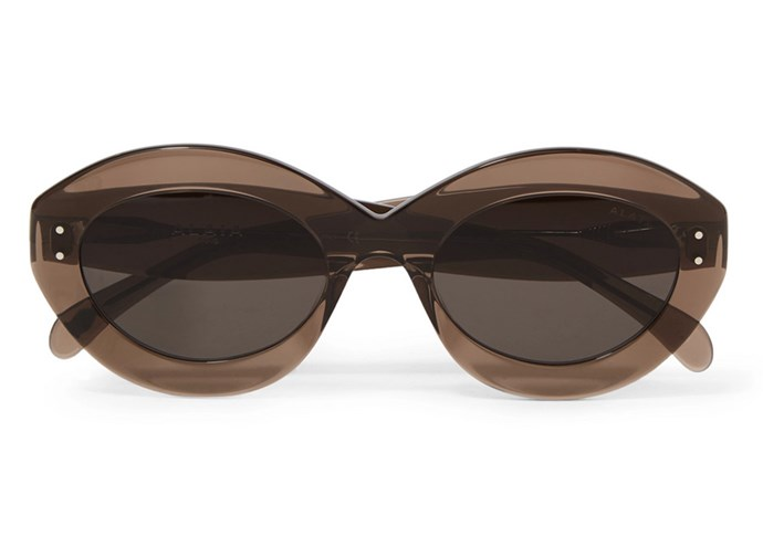 """With a retro round shape that flatters virtually every face shape, these thick-rimmed lenses will give previously-worn racing-day outfits new-season new meaning. <br><br> Alaïa sunglasses, $493.54 at [Net-a-Porter](https://www.net-a-porter.com/au/en/product/1087689/Alaia/round-frame-acetate-sunglasses
