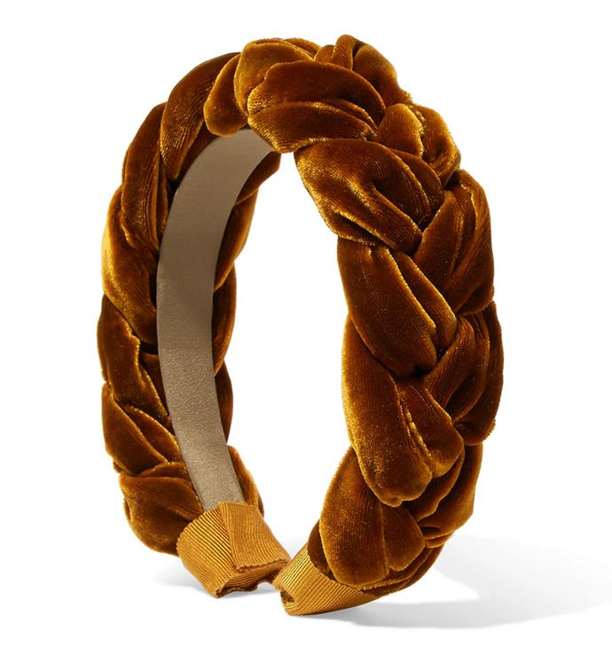 "This velvet plaited headband will lend your trackside style some '60s sultriness à la Bridget Bardot. <br><br> Jennifer Behr headband, $304.07 at [Net-a-Porter](https://www.net-a-porter.com/au/en/product/1087014/Jennifer_Behr/braided-velvet-headband|target=""_blank""|rel=""nofollow"")"