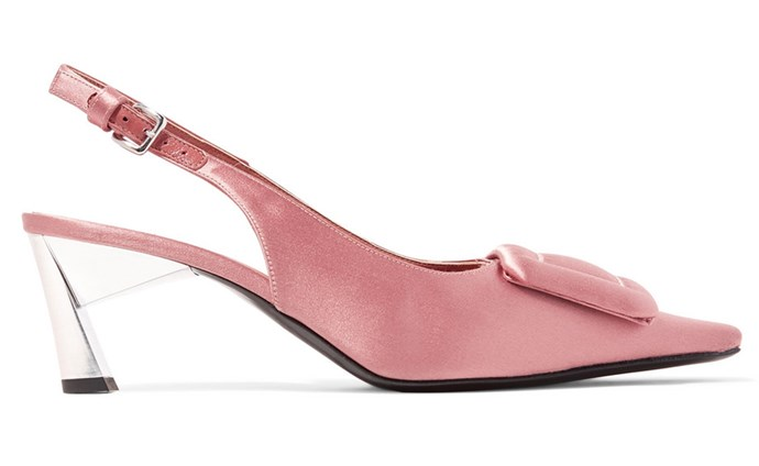 """With feminine silhouettes and buckle-inspired embellishments, Marni's detailed designs are easy to spot in a crowd. Catching the light with every step; pair these pumps with everything from wallpaper prints to monochrome polka dots. <br><br> Marni pumps, $721.86 at [Net-a-Porter](https://www.net-a-porter.com/au/en/product/1053268/Marni/satin-slingback-pumps