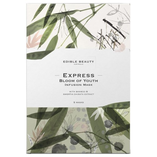 """**Best sheet mask for… Sensitive skin**<br> **Try:** Edible Beauty Express Bloom of Youth Infusion Mask, $55 at [Adore Beauty](https://www.adorebeauty.com.au/edible-beauty/edible-beauty-express-bloom-of-youth-infusion-mask-5-pce.html