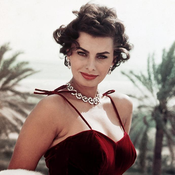 """***Sophia Loren*** <br><br> Sophia Loren endorsed the classic Mediterranean diet of fresh vegetables, pasta and red wine. She once famously said, """"Everything you see, I owe to spaghetti."""" She was also unashamed of her natural, occasionally fluctuating figure—also saying """"I'd rather eat pasta and drink wine than be a size zero."""" Our hero."""