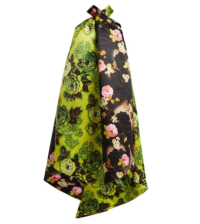 "Dress by Richard Quinn, $3,428 at [MATCHESFASHION.COM](https://www.matchesfashion.com/au/products/Richard-Quinn-Panelled-floral-print-satin-dress-1235350|target=""_blank""