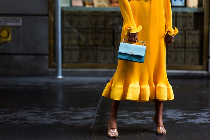 **Yellow** <br><br> The style set's love of yellow sees no signs of letting up anytime soon but with a surprisingly large colour palette there's a shade to suit all skin tones. Worn on its own for vivid impact or worked with neutrals in mellowed-down hues, consider lending your race-day wardrobe some of yellow's sartorial optimism.