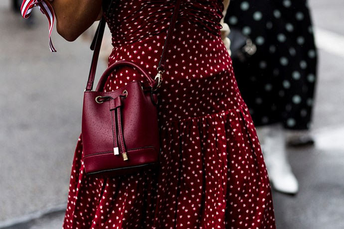 **Polka Dots** <br><br> Channel your inner Julia Roberts à la *Pretty Woman* and swap florals for graphic polka dots. Signalling poise and chic spontaneity; wear your dots with ladylike accessories and keep your palette limited.