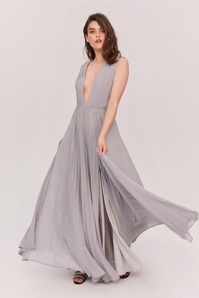 "Dasha wore the 'Allegra,' $279, by [Fame & Partners](https://www.fameandpartners.com/dresses/dress-allegra-680?clr=212 target=""_blank"" rel=""nofollow"")."