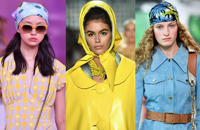 """***Scarf Scenes***<br><br> You know, we don't want to say 'we told you so'… but we will. Our [prediction](https://www.elle.com.au/fashion/headscarf-trend-2018-18196