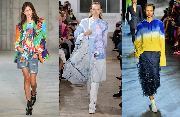 ***To Dye For***<br><br> No longer reserved for the freewheelin' crowd, NYFW brought tie-dye back into favour. Whether it was a rainbow concoction at R13 or something a little bit more office-appropriate (yes, 'office-appropriate' and 'tie dye' are no longer oxymorons) at Proenza Schouler, we're seeing a tie-dye renaissance on the horizon.<br><br> Seen at: R13, Proenza Schouler, Prabal Gurung.