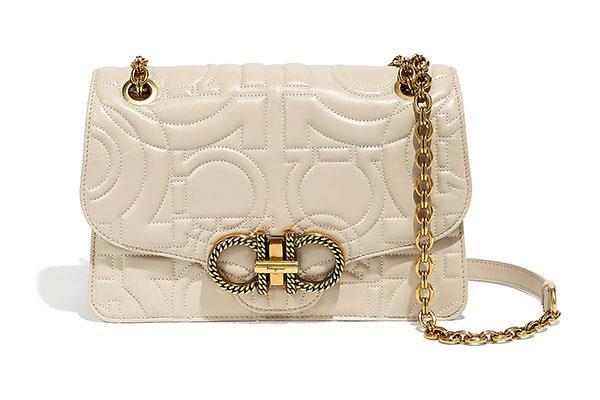 "[Salvatore Ferragamo Quilted Gancini Flap Bag](https://www.ferragamo.com/shop/aus/en/women/women-handbags/quilting-696054--24|target=""_blank""|rel=""nofollow""), $3,190"