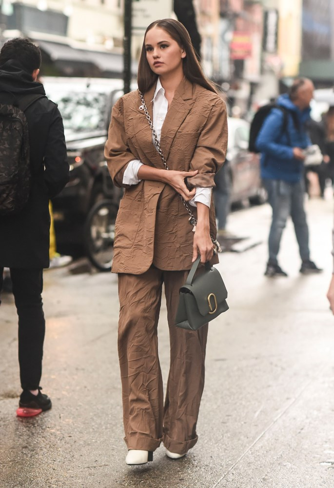 ***Oversized suits***<br><br> Last season was all about the tailored suit—sharp across the shoulders, with trousers fit just so. This season, things are going oversized. Let your blazer hang loose, your pants drag and your sleeves swim—don't worry, it's editor-approved.