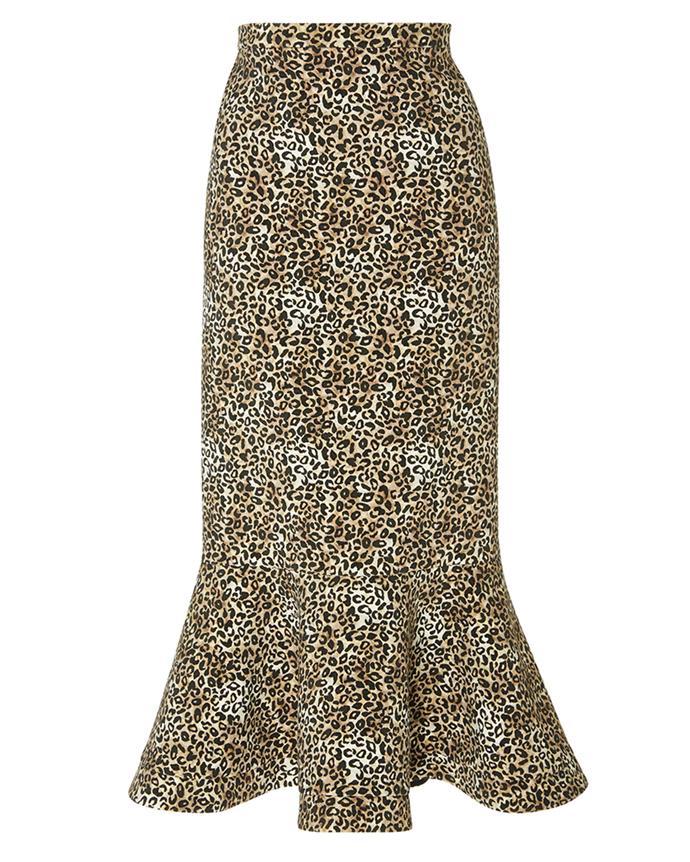 "Skirt by Saloni, $555 at [Moda Operandi](https://www.modaoperandi.com/saloni-fw18/portia-crepe-midi-skirt|target=""_blank""|rel=""nofollow"")"