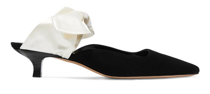 """**For The: Classic Bride** <br><br>  Mules by The Row, $1,195 at [MyTheresa](https://www.mytheresa.com/en-au/the-row-coco-suede-and-satin-mules-908312.html target=""""_blank"""" rel=""""nofollow"""")"""