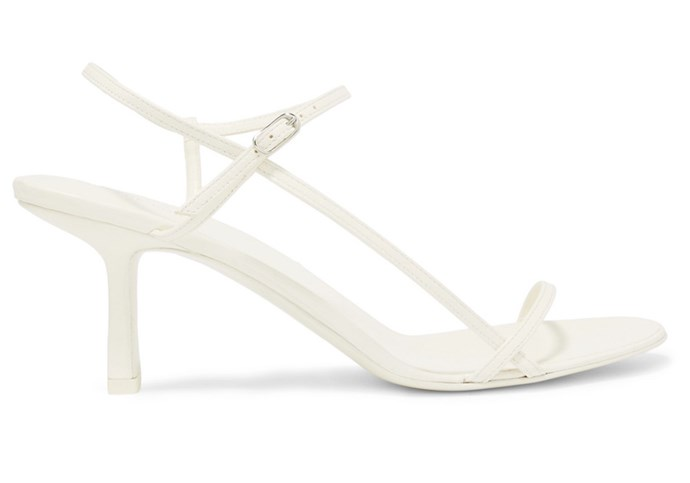 "**For The: Minimalist Bride** <br><br>  Heels by The Row, $790 at [Net-A-Porter](https://www.net-a-porter.com/us/en/product/1058531|target=""_blank""