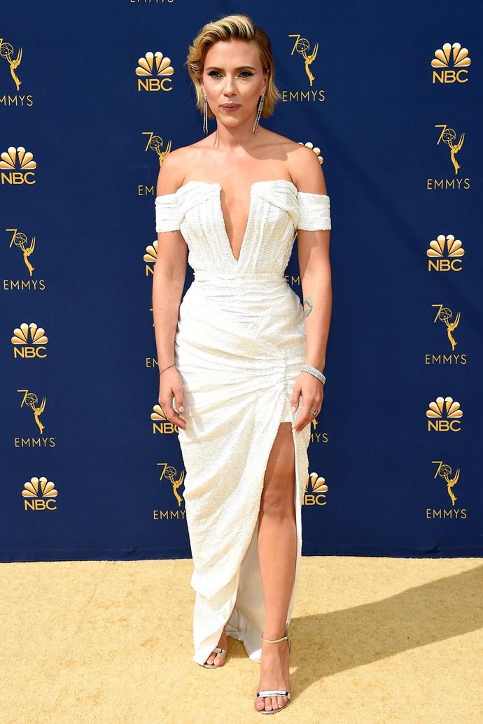 Scarlett Johansson in Balmain.