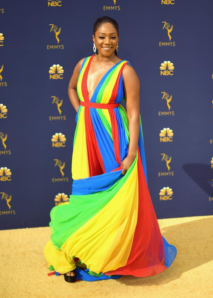 Tiffany Haddish in Atelier Prabal Gurung.