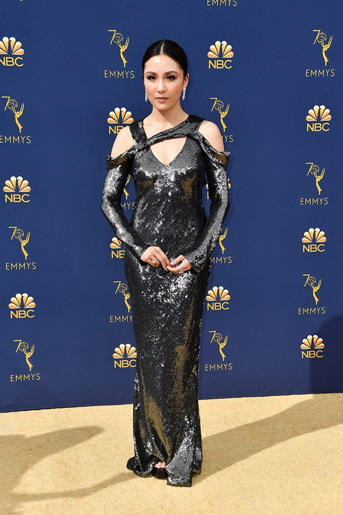 Constance Wu in Jason Wu.