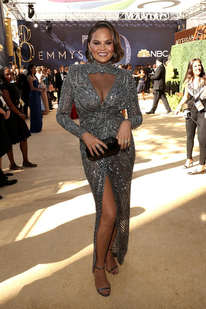 Chrissy Teigen in Zuhair Murad.