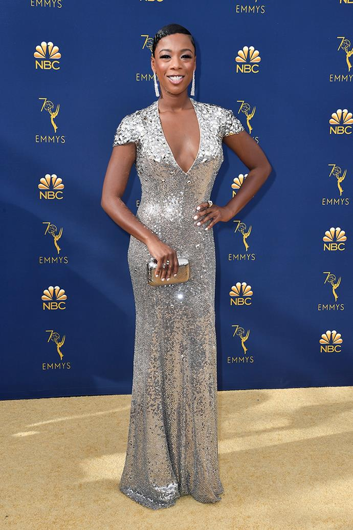 Samira Wiley in Jenny Packham.