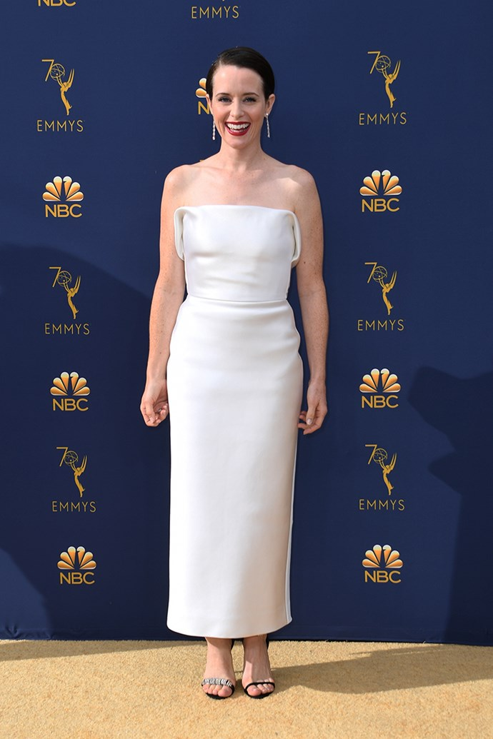 Claire Foy in Calvin Klein by Appointment.