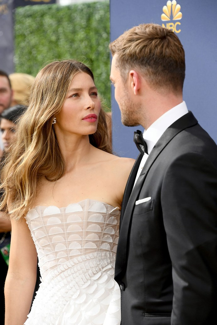 Jessica Biel and Justin Timberlake. <br><br> Prove just how enamoured the pair are, they were captured gazing lovingly into each other's eyes as they took a pause from walking the red carpet.
