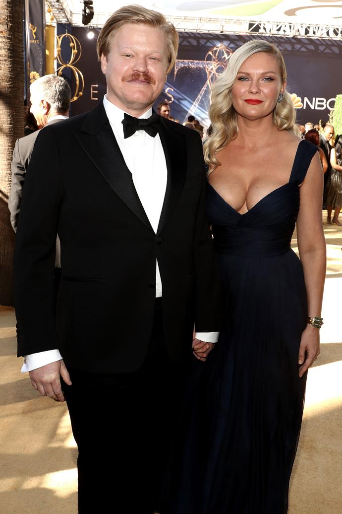 Kirsten Dunst and Jesse Plemons. <br><br> Dunst, who just made her first red carpet appearance since giving birth four months ago, accompanied her husband—and nominee for the 'Lead Actor In A Limited Series Or Movie' award— Jesse Plemmons to this year's Emmys as only a supportive partner would.