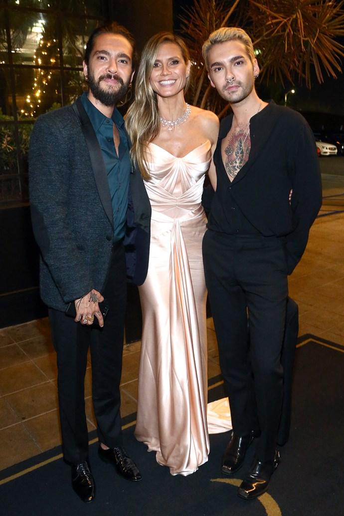 Tom Kaulitz, Heidi Klum and Bill Kaulitz