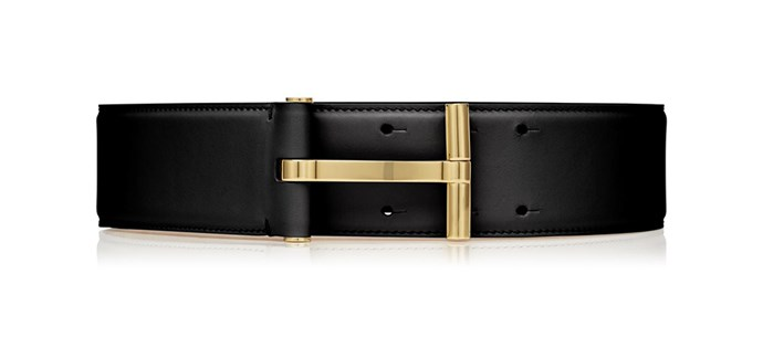 "Tom Ford belt, $1,050 at [Harrolds](https://www.harrolds.com.au/brands/tom-ford/tom-ford-woman-1100/|target=""_blank""
