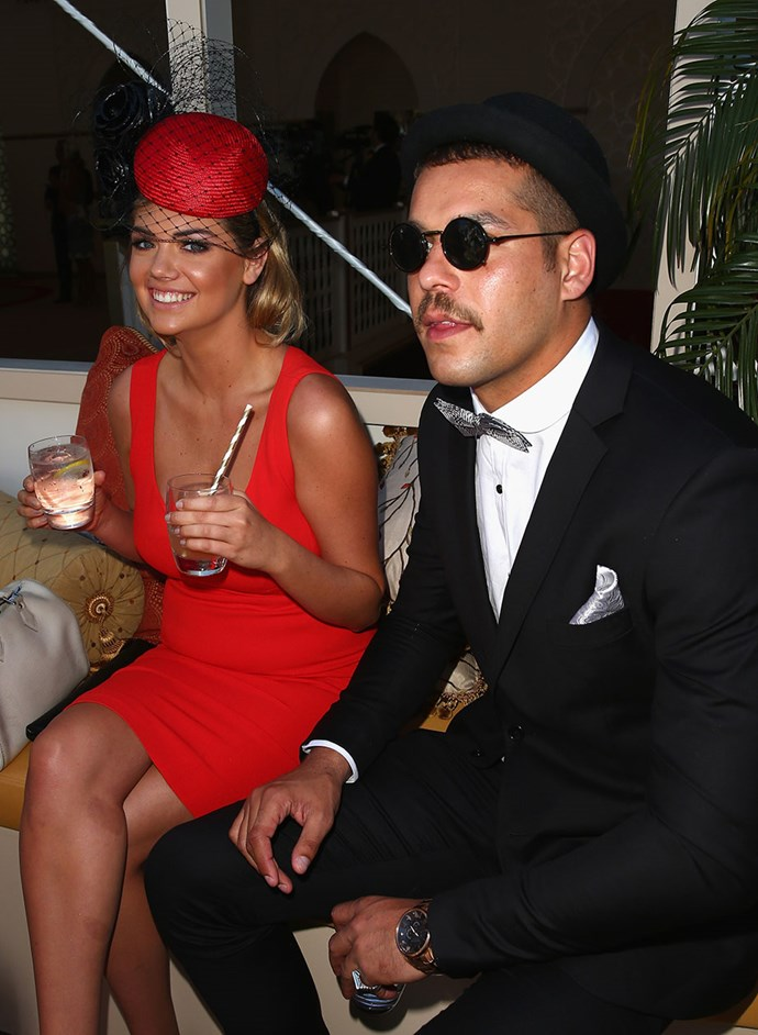 "Kate Upton and Lance ""Buddy"" Franklin, 2013."